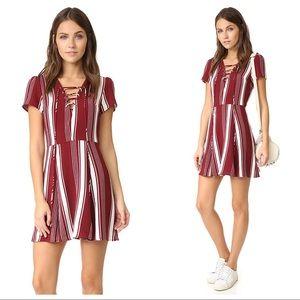 Lovers + Friends Compass Dress Red Striped Dress